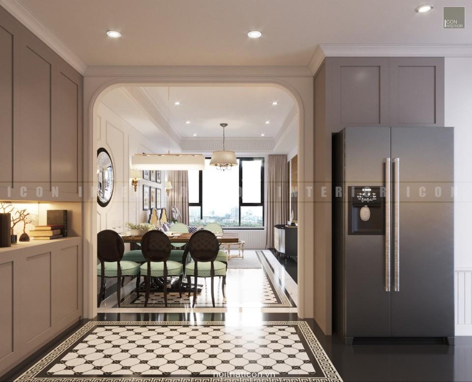 nội thất phòng bếp đơn giản tối đa không gian