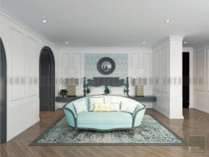 phong cách thiết kế Indochine phòng ngủ