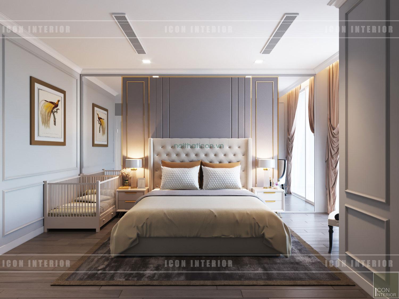 Thiết kế nội thất chung cư 70m2 Gateway Thảo Điền - phòng ngủ