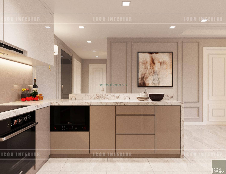 Thiết kế nội thất chung cư 70m2 Gateway Thảo Điền - phòng bếp