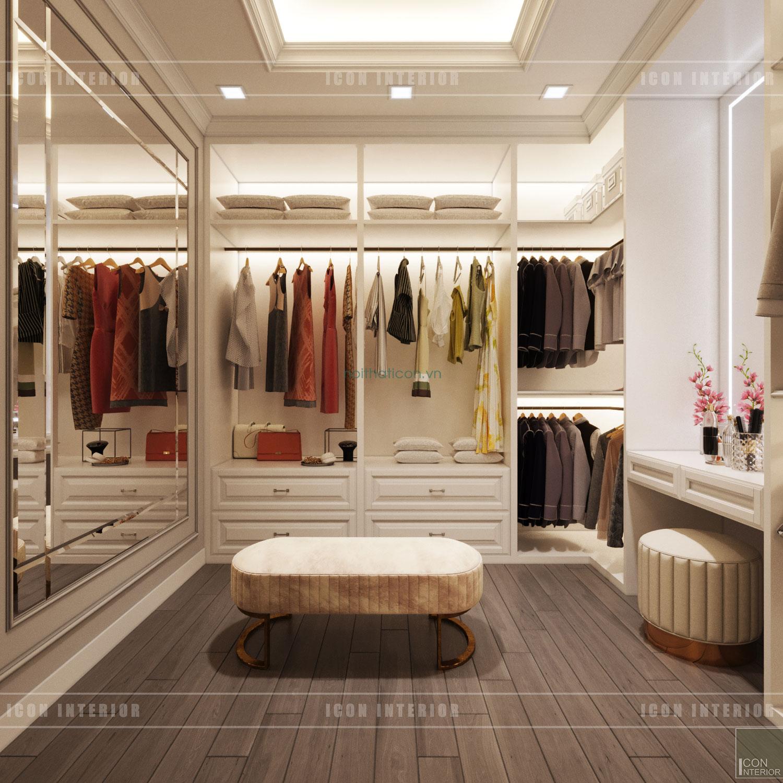 Thiết kế nội thất chung cư 70m2 Gateway Thảo Điền - phòng closet