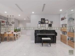 thiết kế nội thất phong cách hiện đại - piano