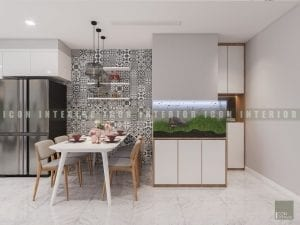 thiết kế nội thất phong cách hiện đại - phòng ăn
