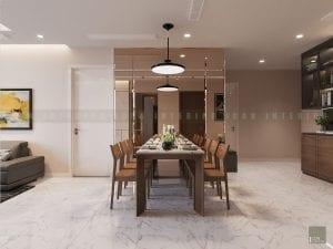 thiết kế nội thất trong nhà phòng ăn