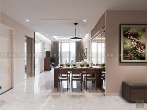 thiết kế nội thất trong nhà phòng khách bếp