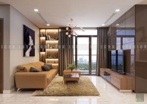 mẫu thiết kế nội thất phòng khách chung cư đẹp