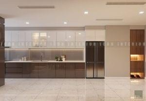 mẫu thiết kế nội thất nhà bếp chung cư đẹp