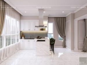 thiết kế căn hộ cao cấp phòng khách bếp 10