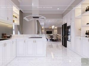 thiết kế căn hộ cao cấp phòng khách bếp 9