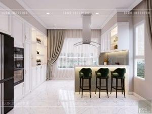thiết kế căn hộ cao cấp phòng khách bếp 11