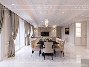 thiết kế căn hộ cao cấp phòng khách bếp 8
