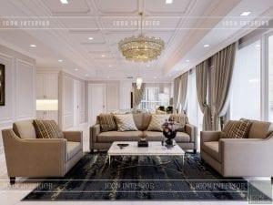 thiết kế căn hộ cao cấp phòng khách bếp 5