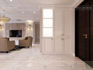 thiết kế căn hộ cao cấp phòng khách bếp 2