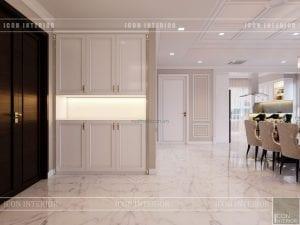 thiết kế căn hộ cao cấp phòng khách bếp 1