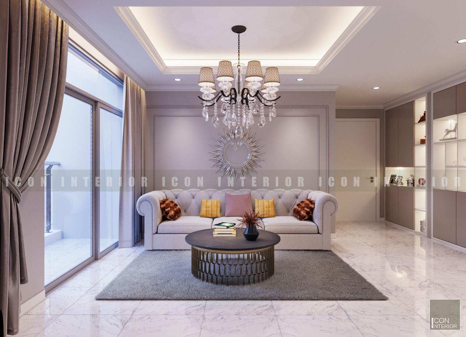 căn hộ vinhomes central park - thiết kế phòng khách