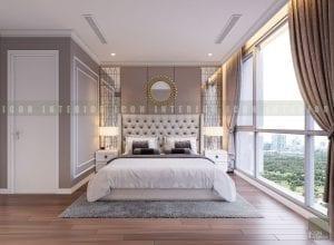 căn hộ vinhomes central park - thiết kế phòng ngủ master