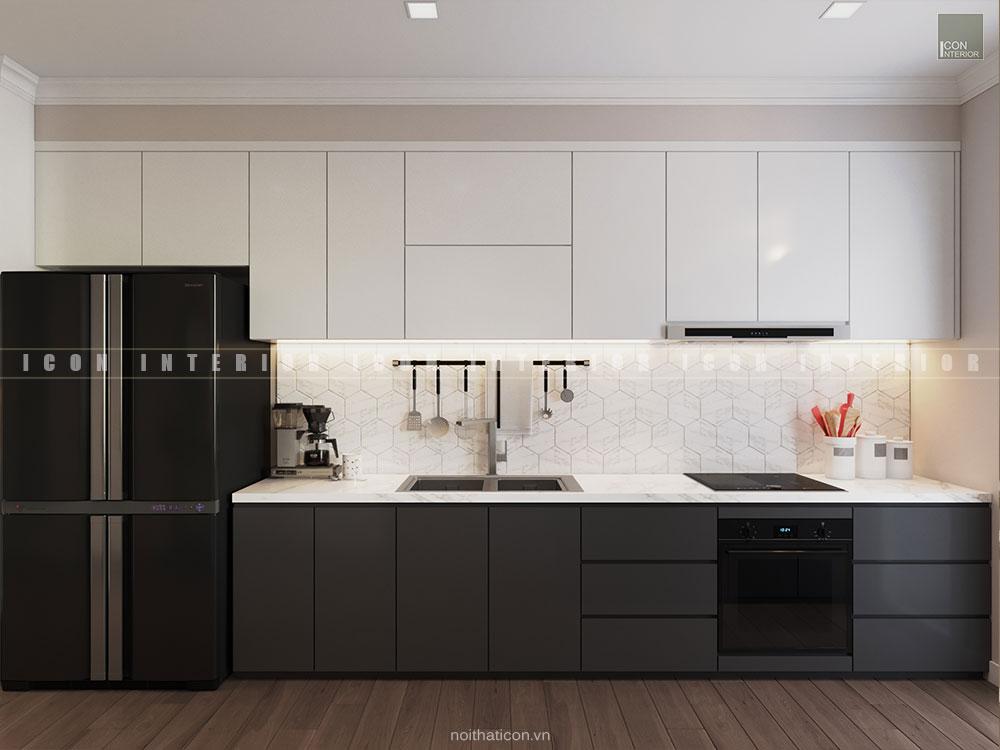 thiết kế nội thất gỗ tự nhiên - phòng bếp