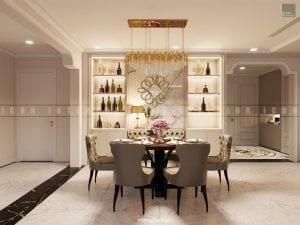 nội thất phòng ăn chung cư đẹp