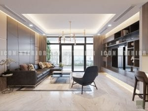 thiết kế nội thất chung cư hiện đại - phòng khách