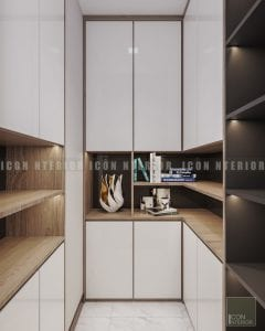 thiết kế nội thất chung cư hiện đại - tủ đồ