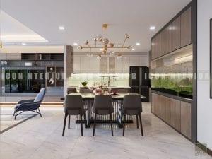 thiết kế nội thất chung cư hiện đại - phòng ăn