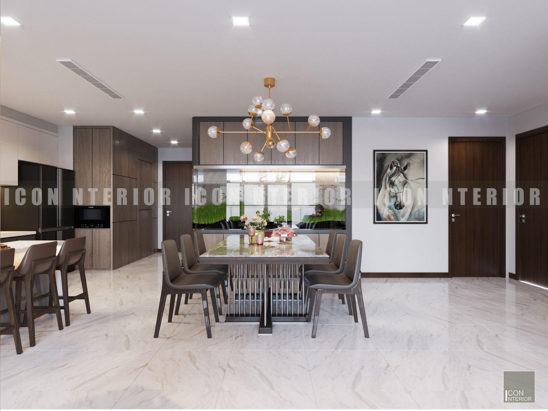 Thiết kế nội thất phòng ăn nhà chung cư