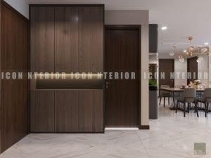 thiết kế nội thất chung cư hiện đại tiền sảnh