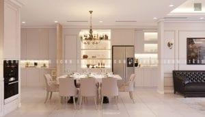 mẫu thiết kế nội thất phòng ăn chung cư đẹp