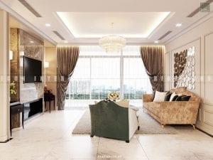 nội thất phòng khách bếp chung cư đẹp
