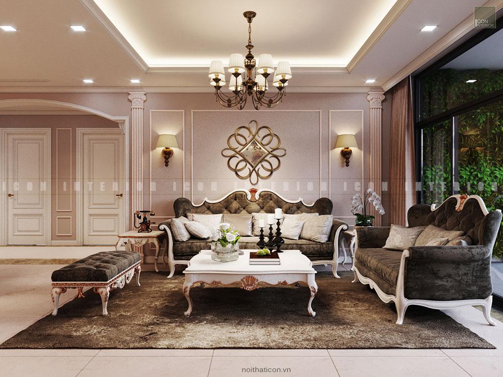 thiết kế nội thất chung cư sang trọng - phòng khách