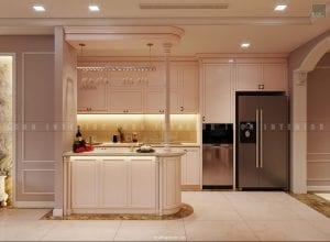 thiết kế nội thất chung cư sang trọng - nhà bếp
