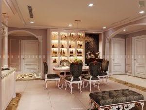 thiết kế nội thất chung cư sang trọng - phòng ăn