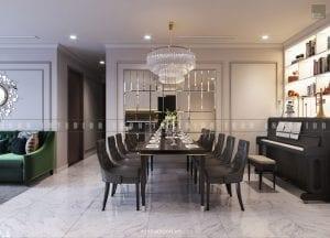thiết kế phòng ăn chung cư đẹp