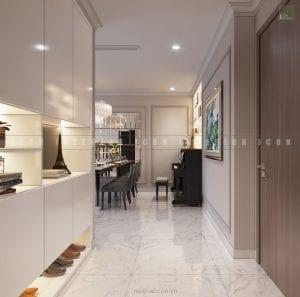 thiết kế tiền sảnh chung cư đẹp