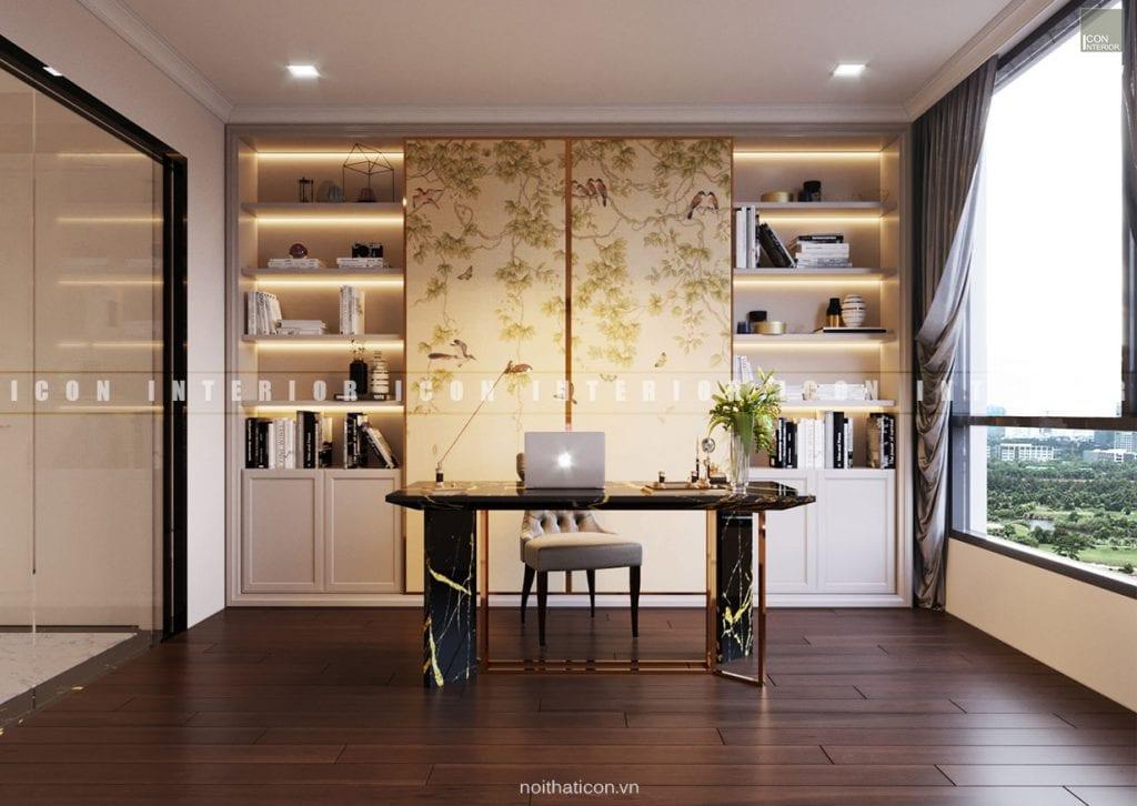 nội thất phòng làm việc chung cư đẹp