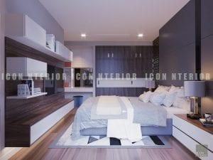 thiết kế nội thất chung cư hiện đại - phòng ngủ master