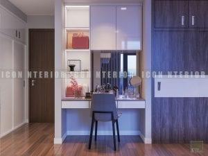 thiết kế nội thất chung cư hiện đại - bàn trang điểm