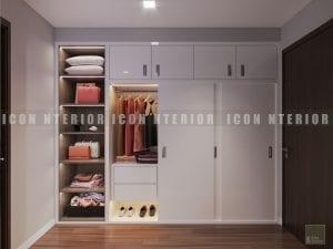 thiết kế nội thất chung cư hiện đại - tủ quần áo