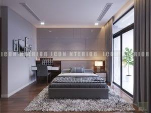 Thiết kế nội thất phòng ngủ nhà chung cư