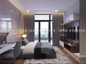 thiết kế nội thất chung cư hiện đại - phòng ngủ