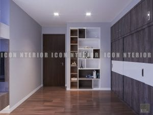 thiết kế nội thất chung cư hiện đại - phòng ngủ nhỏ