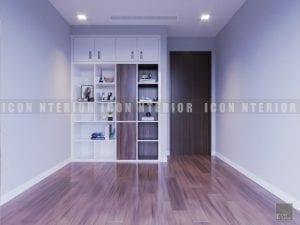 thiết kế nội thất chung cư hiện đại phòng ngủ nhỏ