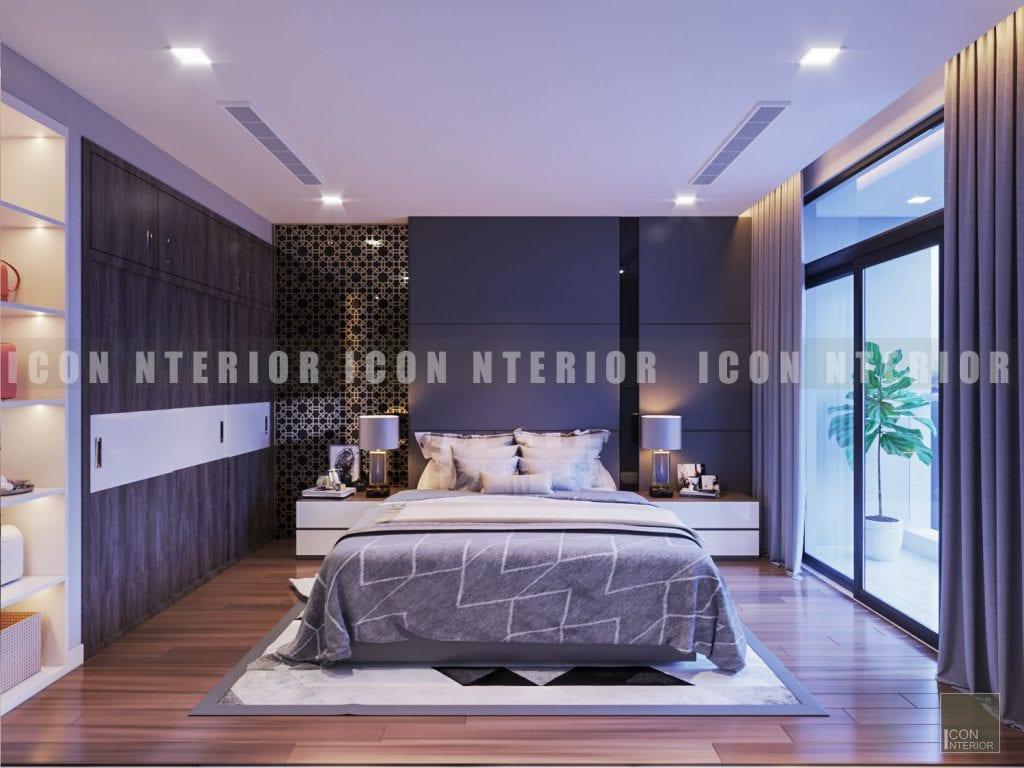 Thiết kế nội thất phòng ngủ master nhà chung cư