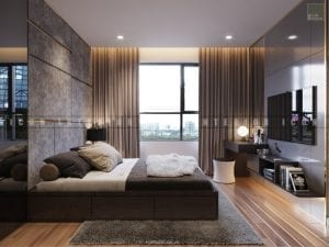 dự án the gold view quận 4 - thiết kế phòng master