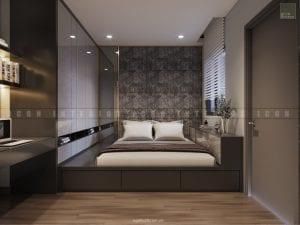 dự án the gold view quận 4 - thiết kế phòng ngủ nhỏ