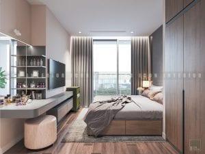 thiết kế nội thất trong nhà phòng ngủ master