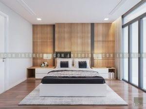 thiết kế nội thất phong cách hiện đại - phòng ngủ master