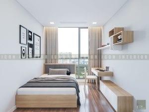 thiết kế nội thất phong cách hiện đại - phòng ngủ