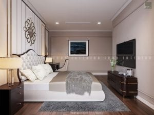nội thất phòng master chung cư đẹp 2