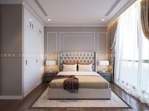 thiết kế nội thất chung cư sang trọng - phòng ngủ nhỏ
